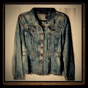 Dkny fitted denim jacket